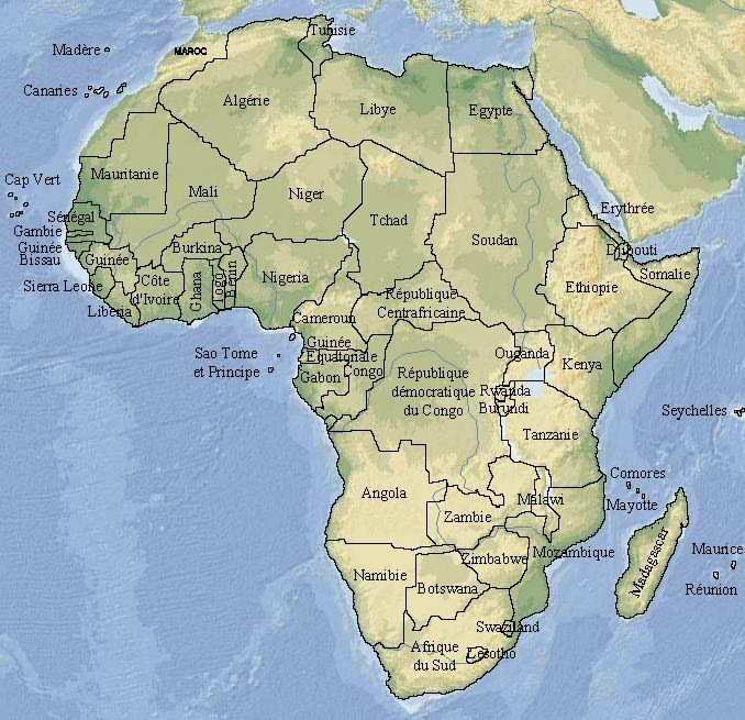 Carte Afrique Onu.Pays Africains Afrique Onu Statistiques
